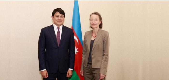 Vorsitzender des Staatskomitees für Diaspora trifft sich mit der Schweizer Botschafterin