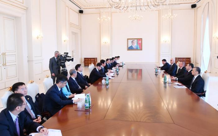 Prezident Li Canşunu qəbul edib - FOTOLAR (Yenilənib)