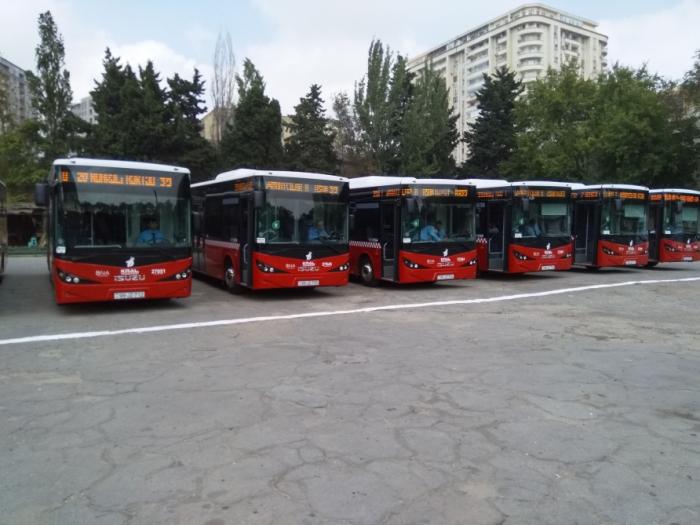 Daha bir marşrutun avtobusları yenilənib