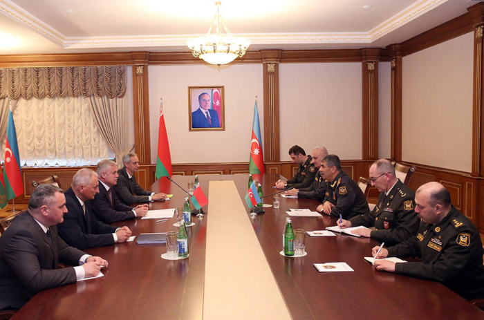 Azerbaijan's defense minister meets state secretary of Security Council of Belarus