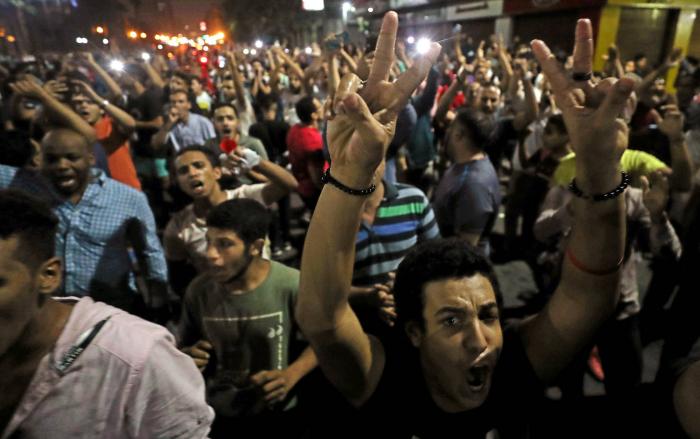 Una inusual ola de protestas en Egipto desafía al presidente Al Sisi