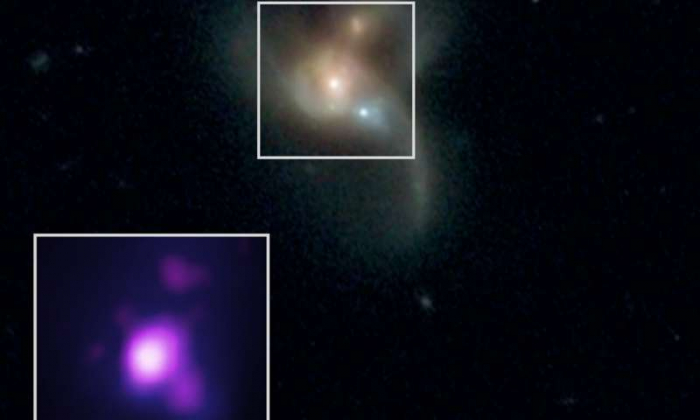 Astronomers find three black holes on collision course