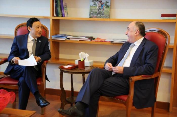 Məmmədyarov FAO-nun baş direktoru ilə görüşüb