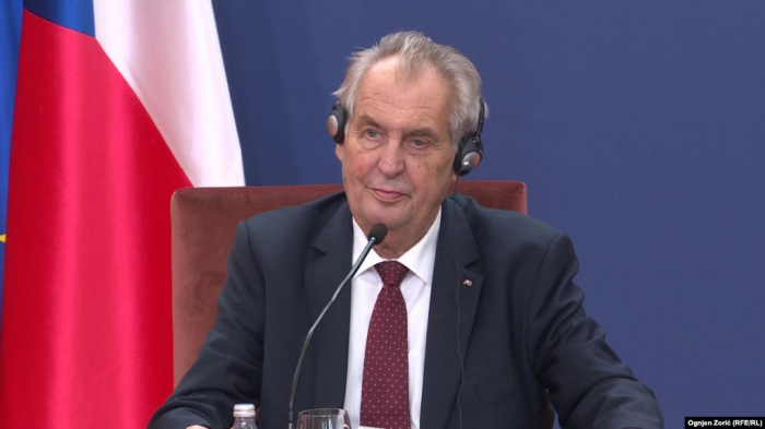 Czech President tells Serbia he will seek to   withdraw Kosovo recognition