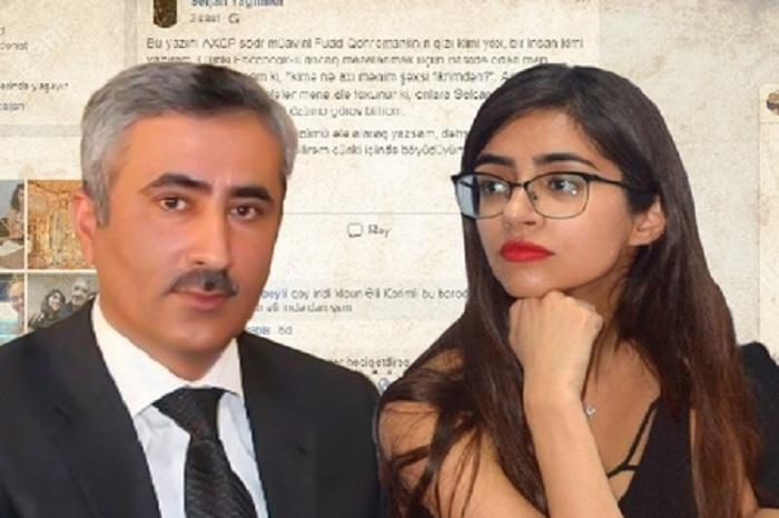 """""""Profilim oğurlanmayıb, dediklərim doğrudur"""" - Fuad Qəhrəmanlının qızı (VİDEO)"""