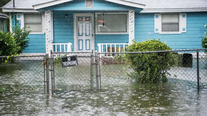 Inondations en Caroline du Sud avec l