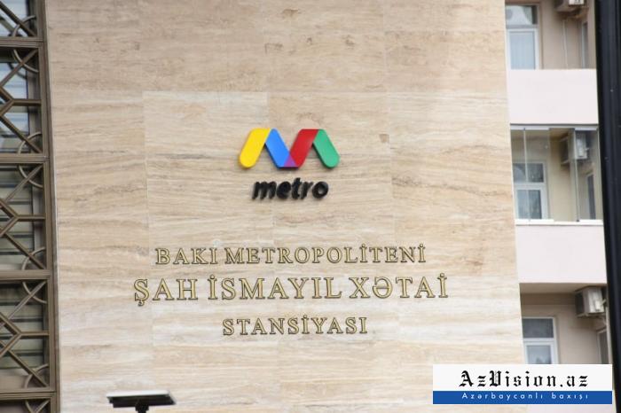 """Metronun """"Xətai"""" stansiyası açıldı"""