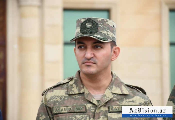 Dövlət Agentliyinin sədri hərbi formada - FOTOLAR