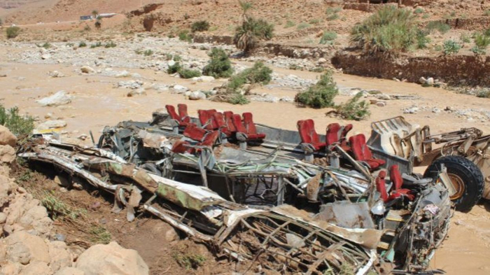 Inondations au Maroc:   au moins onze morts dans un accident de bus