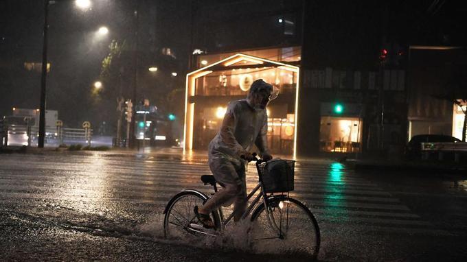 Le puissant typhon Faxai s