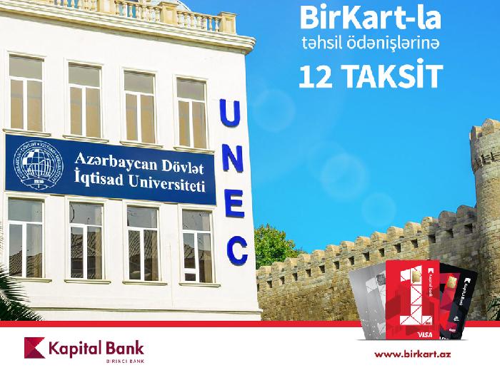 BirKart-la UNEC-də təhsil haqqını hissə-hissə ödəmək olar