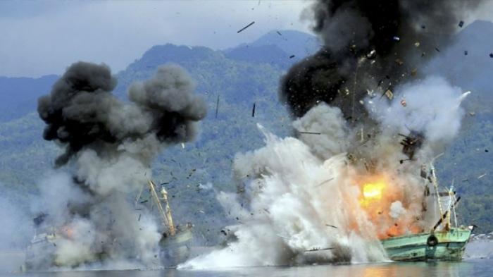 L'Indonésie a fait exploser plus de 500 bateaux pour lutter contre la pêche illégale