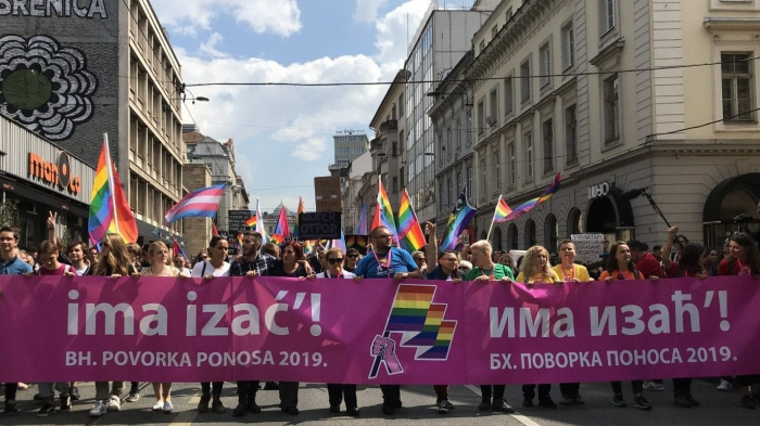 Bosnian capital hosts first LGBT parade amid heavy police presence