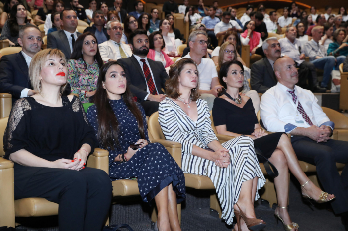 VP of H. Aliyev Foundation Leyla Aliyeva attends lecture of Russian scientist