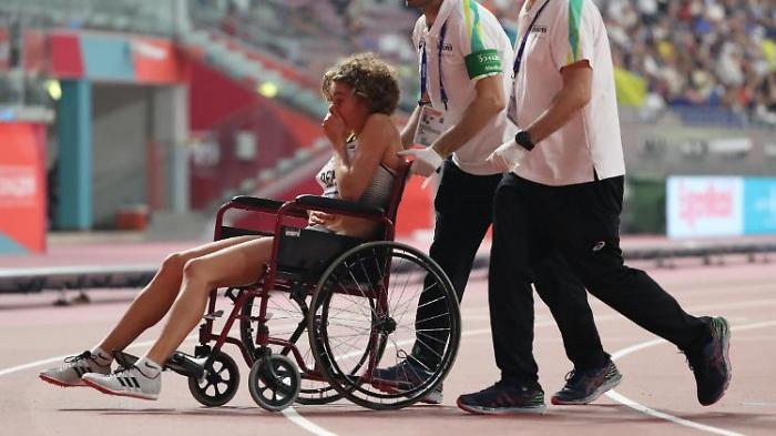 Deutsche Läuferin bricht in Doha zusammen