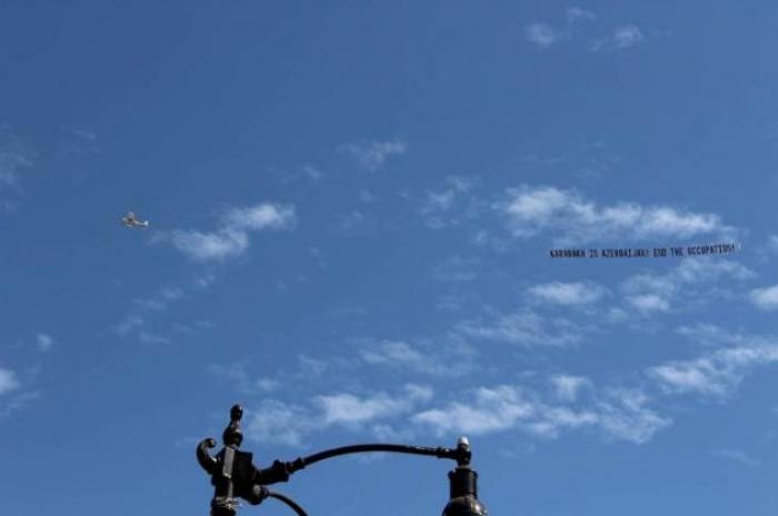"""الطائرات التي تحمل شعار """"كاراباخ هي لأذربيجان"""" في الولايات المتحدة -   فيديو"""