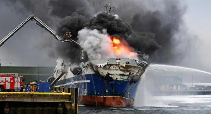 92 locals evacuated as Russian trawler catches fire in Norway