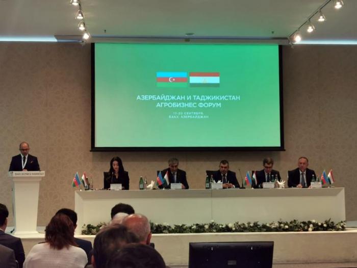 Azerbaijani-Tajik agribusiness forum underway in Baku