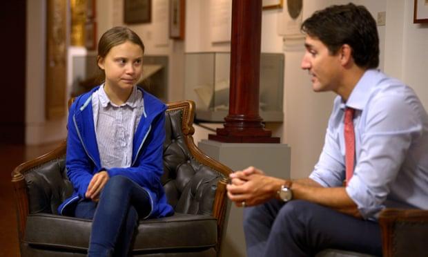 Greta Thunberg meets Justin Trudeau amid climate strikes: