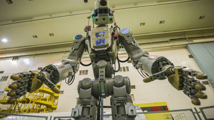 Russia's life-sized humanoid robot has returned safely to Earth