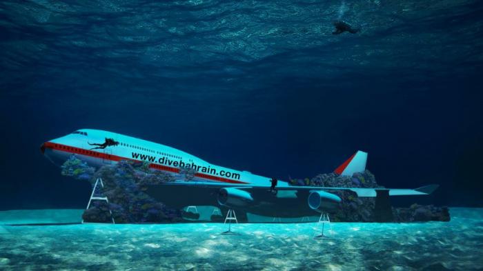 Versenkte Boeing 747 vor Bahrain