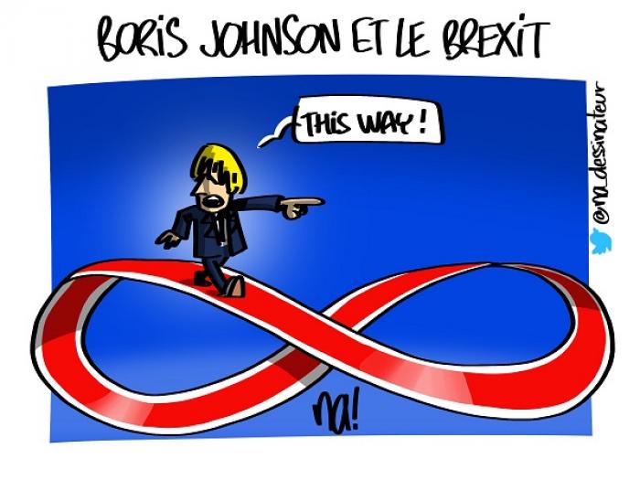 Boris Johnson et le Brexit -   CARICATURE