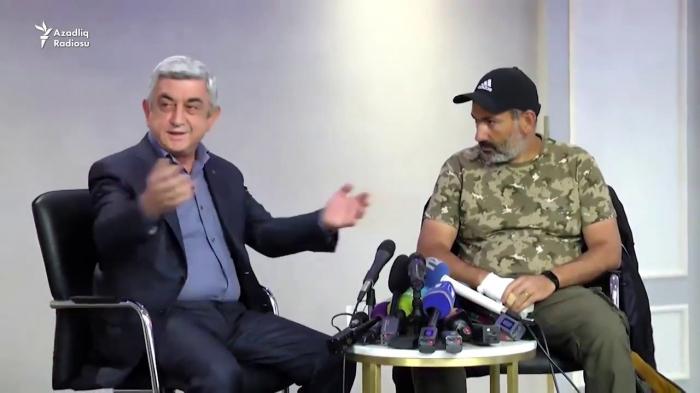 """Paşinyan Sarkisyanı həbslə hədələdi: """"Ədalətdən qaça bilməz"""""""