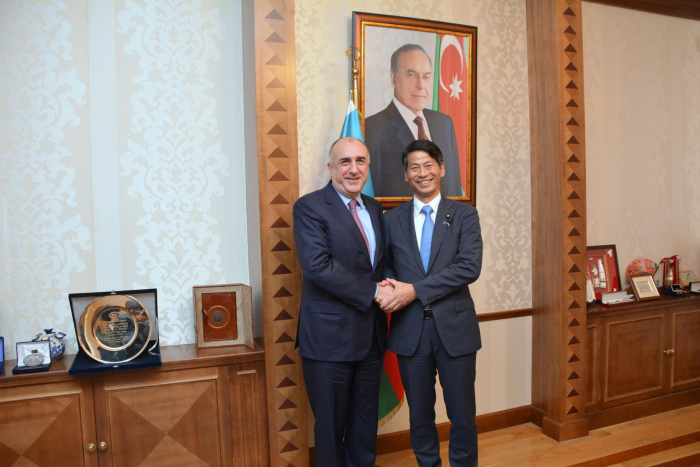 Elmar Mammadyarov receives the Parliamentary Vice-Minister for Foreign Affairs of Japan