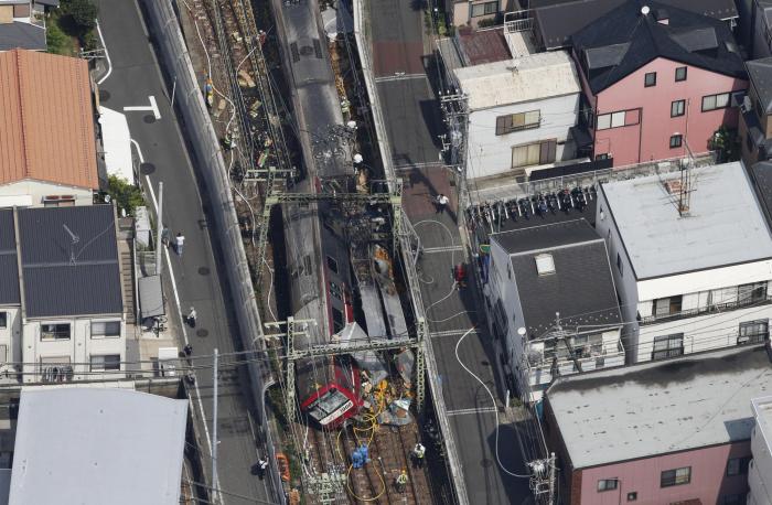 Yaponiyada qatar qəzası - 30 yaralı (VİDEO)