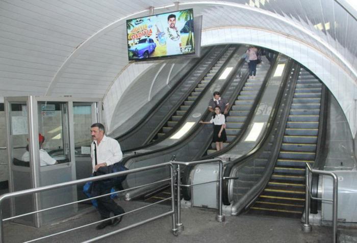 """""""Nizami"""" stansiyasında eskalatorun təmiri başa çatıb"""