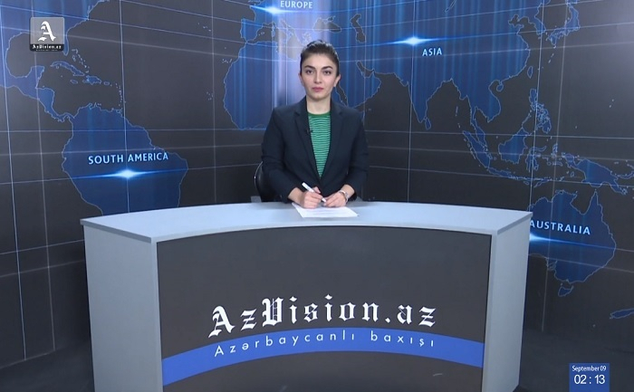 AzVision TV releases new edition of news in English for September 9 -    VIDEO