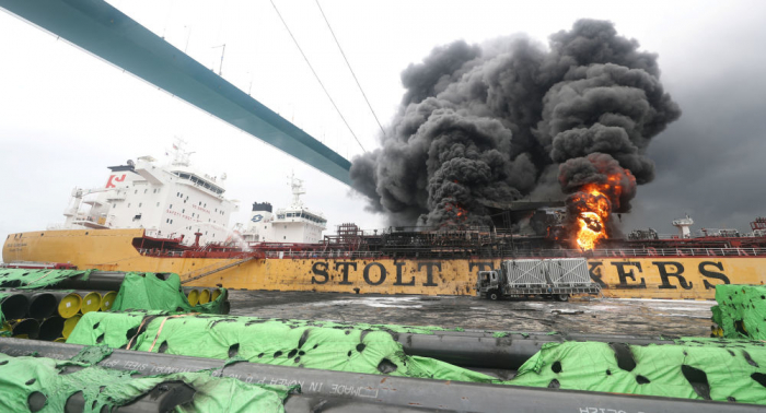 At least 9 sailors reportedly wounded as fire broke out on South Korean cargo ship