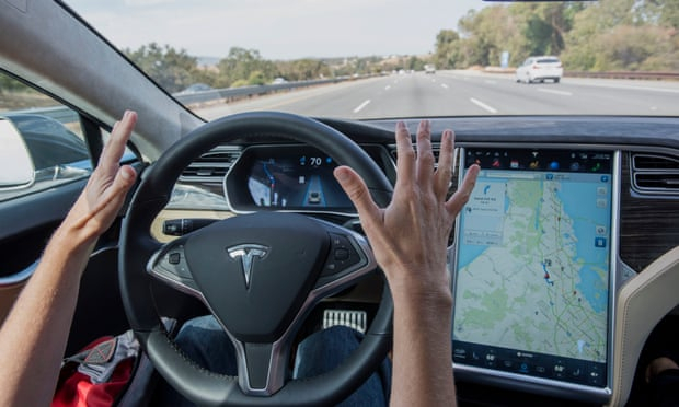 Video appears to show Tesla driver asleep at the wheel