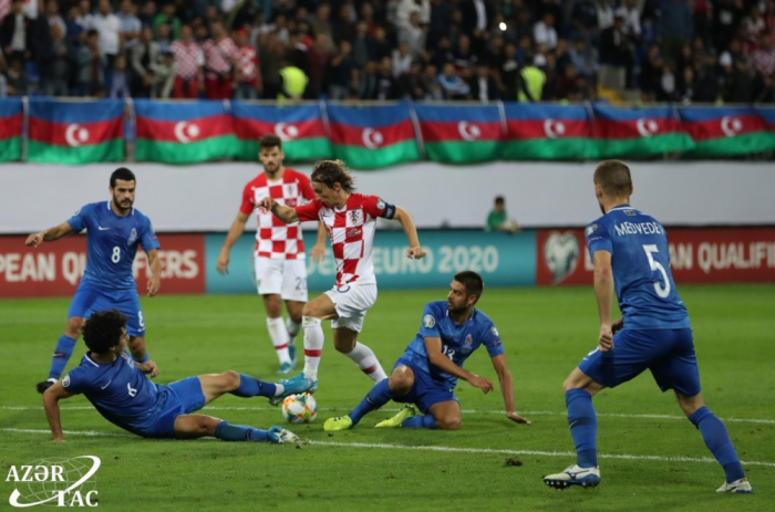 Azerbaijan draw with Croatia to gain first point in UEFA European Qualifiers