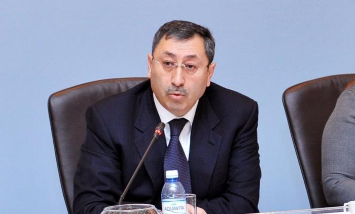 Khalaf Khalafovrécompensé d'un insigne duMinistère russe des Affaires étrangères