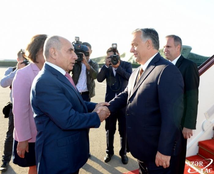 Le Premier ministre hongrois est arrivé en Azerbaïdjan