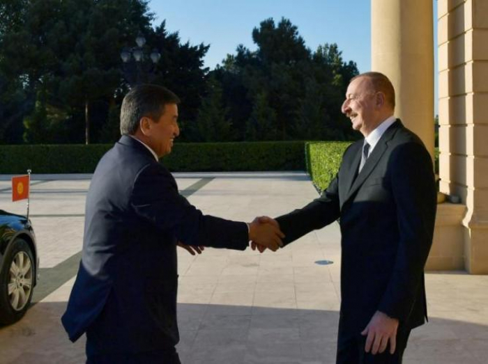 Azerbaijani President meets with Kyrgyz counterpart