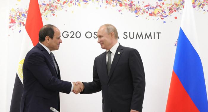 بوتين والسيسي يبحثان استئناف الطيران العارض بين مصر وروسيا