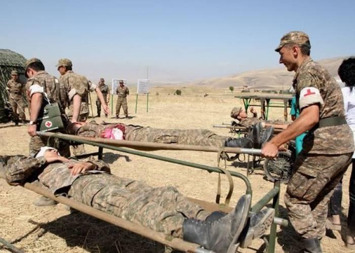 Ermənistan ordusunun hərbçisi yaralanıb