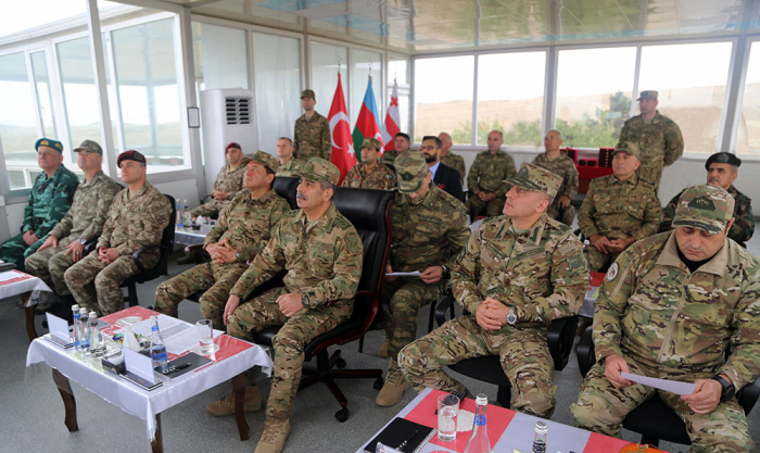 Azerbaijani defense minister attends Distinguished Observers Day held during Caucasian Eagle - 2019 exercises