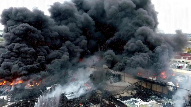 Rouen chemical factory fire