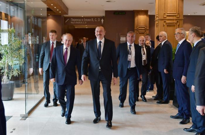 İlham Əliyev və Putin Soçidə görüşdü - VİDEO+FOTOLAR (Yenilənib)