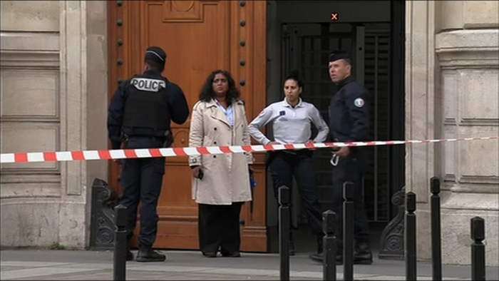 Paris stabbing: Attacker shot dead after killing officer at police HQ