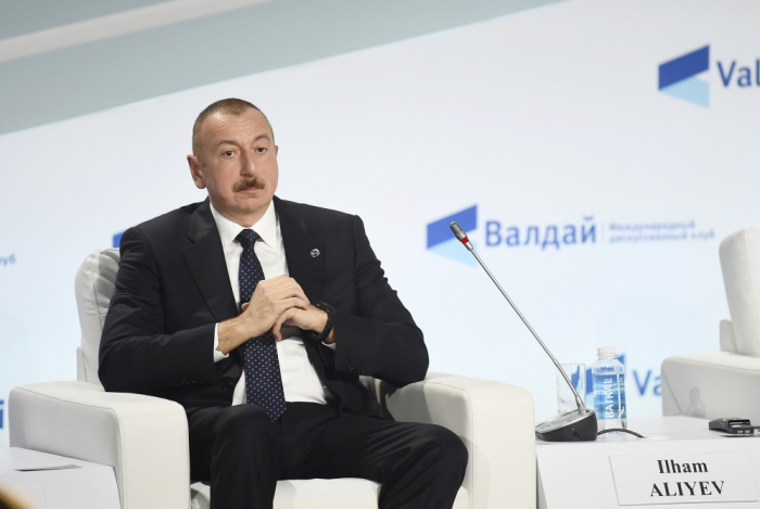 President Ilham Aliyev attends annual meeting of Valdai International Discussion Club