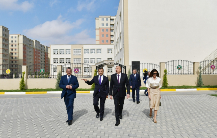 Azerbaijani president and first lady inaugurate new residential complex for IDPs - UPDATED