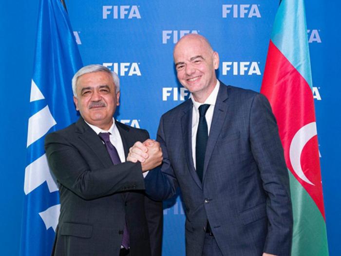 Reunión de presidentes de la AFFA y de la FIFA