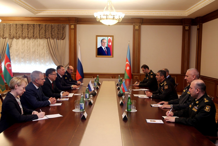 Azerbaijani defense minister meets Russia's chief military prosecutor