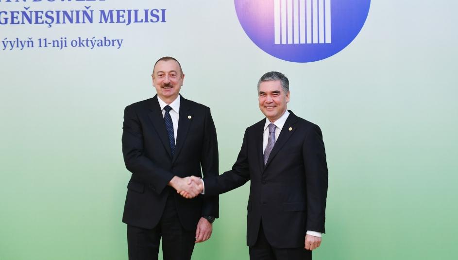Azərbaycan və Türkmənistan prezidentləri görüşdü - FOTOLAR (YENİLƏNİB)