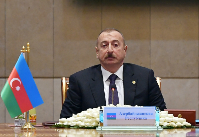 President Ilham Aliyev attends expanded session of Council of CIS Heads of State