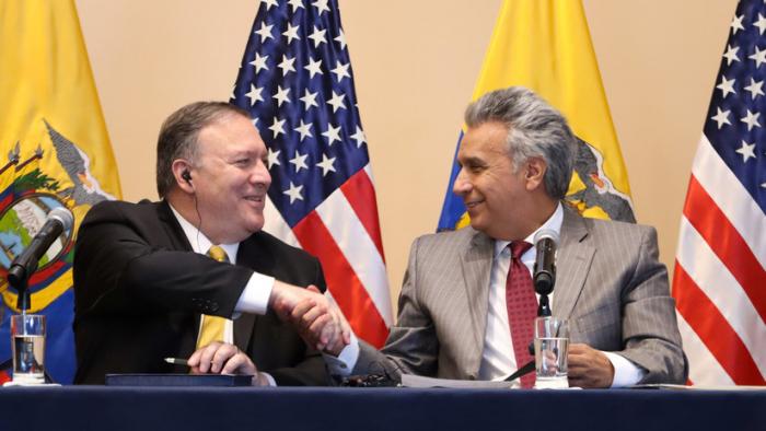 """EE.UU. reafirma su apoyo a Lenín Moreno y monitorea la posible """"participación de actores externos"""" en las protestas"""